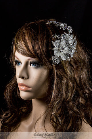Adele Vintage Flower Statement Hair Comb | Swarovski Crystal - Beloved Sparkles  - 5