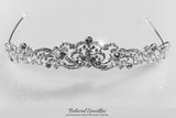 Brianna Romantic Royal Silver Tiara | Swarovski Crystal - Beloved Sparkles  - 7