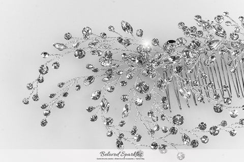 Kori Cluster Spray Hair Comb | Swarovski Crystal - Beloved Sparkles  - 7