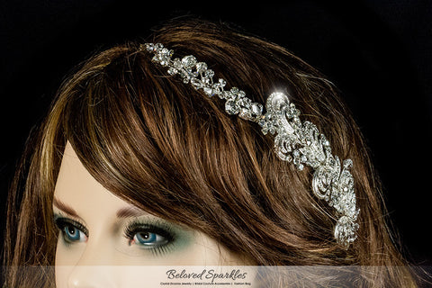 Christi Swirl Cascade Hair Comb | Swarovski Crystal - Beloved Sparkles