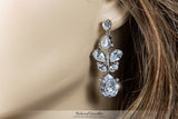Salma Art Deco Cluster Chandelier Earrings | 14 Carat | Cubic Zirconia - Beloved Sparkles  - 4