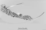 Brianna Romantic Royal Silver Tiara | Swarovski Crystal - Beloved Sparkles  - 8
