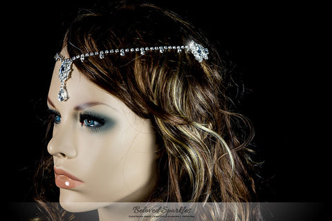 Lydia Vintage Forehead Chain | Swarovski Crystal - Beloved Sparkles  - 8