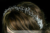 Estella Flower Spray Silver Headband | Swarovski Crystal - Beloved Sparkles  - 6
