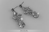Salma Art Deco Cluster Chandelier Earrings | 14 Carat | Cubic Zirconia - Beloved Sparkles  - 9