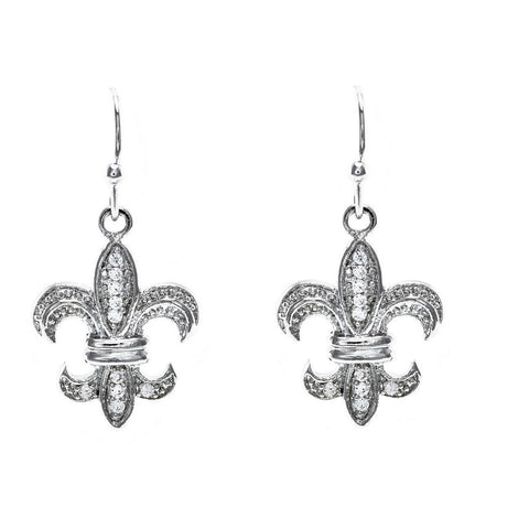 Luz CZ Fleur Drop Earrings | Cubic Zirconia | Silver
