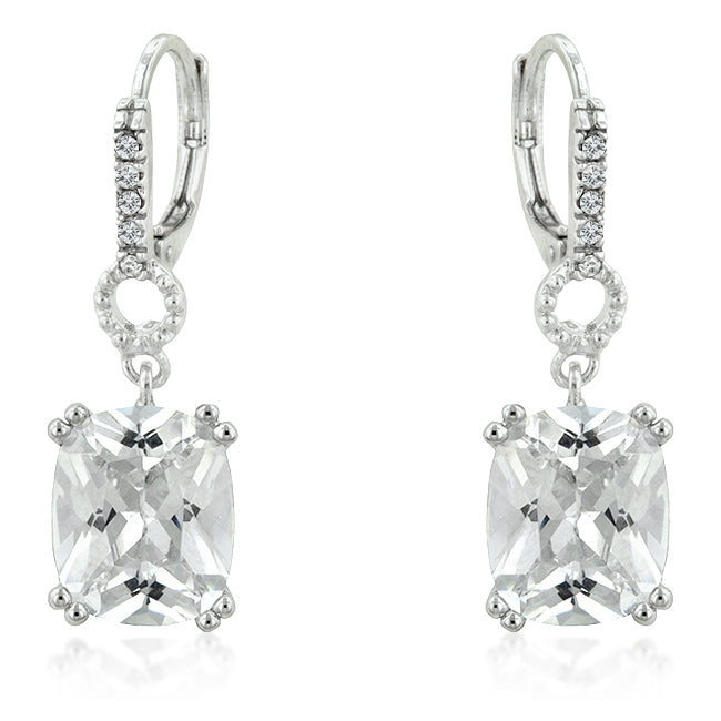 Amaris Radiant Drop Earrings | 4ct