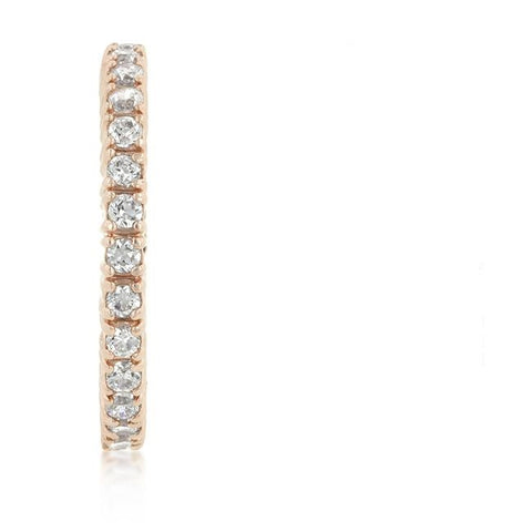 Fabia Rosegold Eternity Stackable Ring | 2ct | Rose Gold