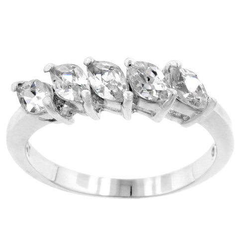 Julian Classic 5 Stone Marquise Ring | 1.2ct | Cubic Zirconia | Sterling Silver