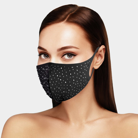 Onia Bling Stone Embellished Fashion Mask