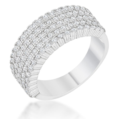 Gwen Cluster CZ Wide Band Ring  | 2ct | Cubic Zirconia - Beloved Sparkles  - 2
