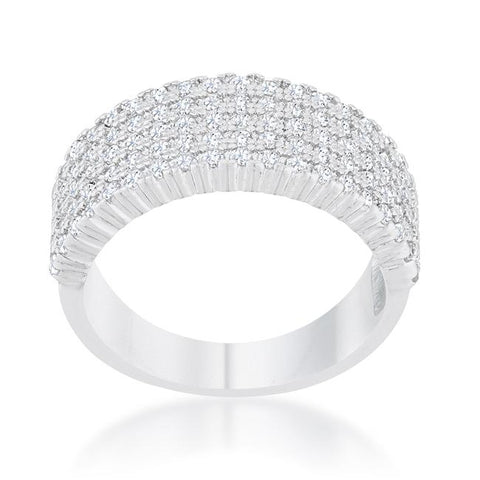 Gwen Cluster CZ Wide Band Ring  | 2ct | Cubic Zirconia - Beloved Sparkles  - 3
