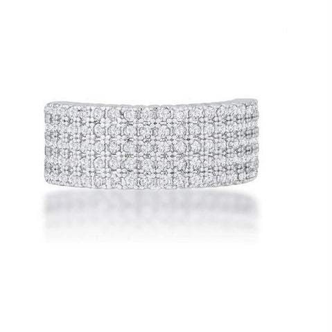 Gwen Cluster CZ Wide Band Ring  | 2ct | Cubic Zirconia - Beloved Sparkles  - 4