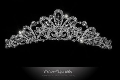 Blair Victorian Art Deco Tiara Comb | Swarovski Crystal - Beloved Sparkles