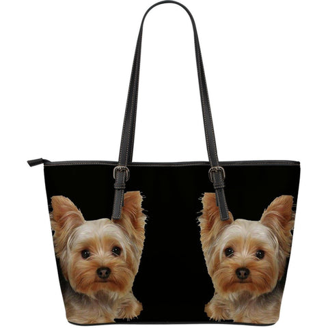 Yorkshire Print Large Leather Tote Bag-Limited Edition-Express Shipping-Paww-Printz-Merchandise