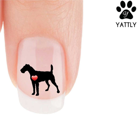 My Heart Airedale Terriers Nail Art Decals (Now! 50% more FREE)