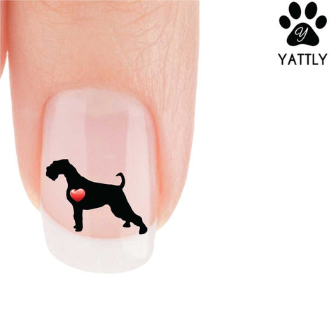 My Heart Airedale (show stance) Nail Art Decals (Now! 50% more FREE)