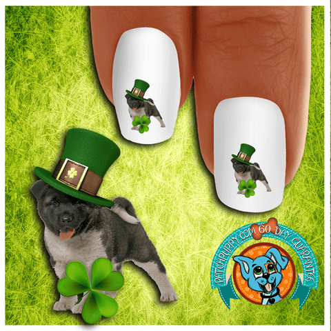 Akita I'm Lucky Nail Art Decals (Now! 50% more FREE)
