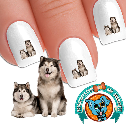 Alaskan Malamute Togetherness Nail Art Decals (Now! 50% more FREE)