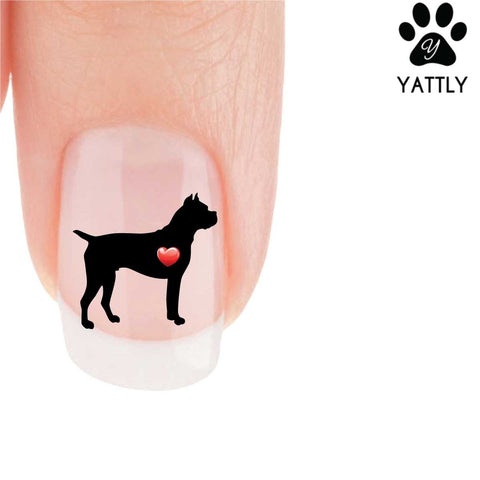 My Heart Boxer Nail Art Decals (Now! 50% more FREE)