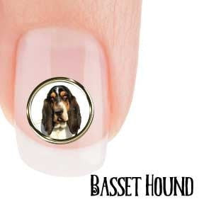Basset Hound Portrait Nail Art (NOW 50% MORE FREE)