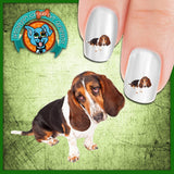 Basset Hound Just one of those days Nail Art Decals (NOW 50% MORE FREE)