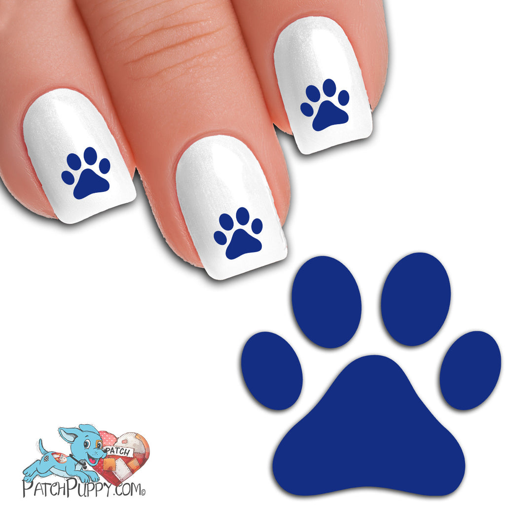 Egyptian Blue Team Spirit Paw Print - Nail Art Decals (Now! 50% more ...