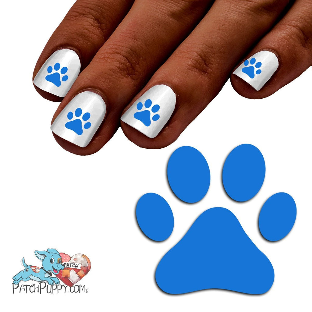 Royal Blue Team Spirit Paw Print Nail Art Decals Now 50 More