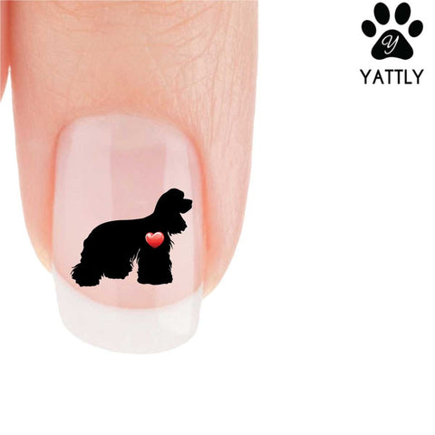 My Heart Cocker Spaniel Nail Art Decals (Now! 50% More FREE)