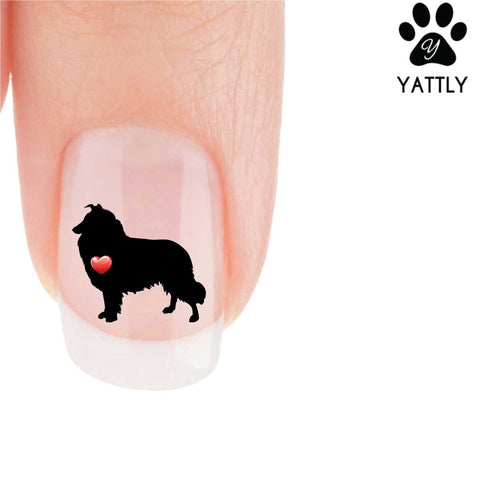 My Heart Collie Nail Art Decals (Now 50% More FREE)
