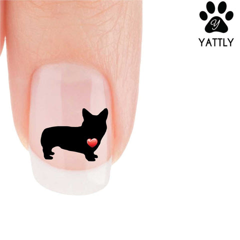 My Heart Corgi Nail Art Decals (Now 50% More FREE)