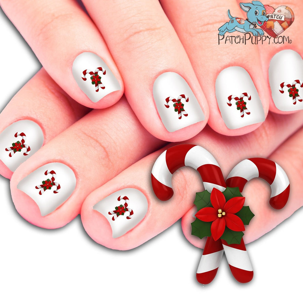 Candy Cane Nail Art Decals Now 50 More Free Patch Puppy