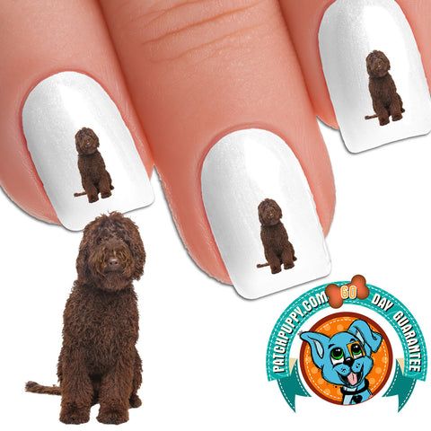 Chocolate Labradoodle Good Dog Nail Art Decals (Now 50% More FREE)