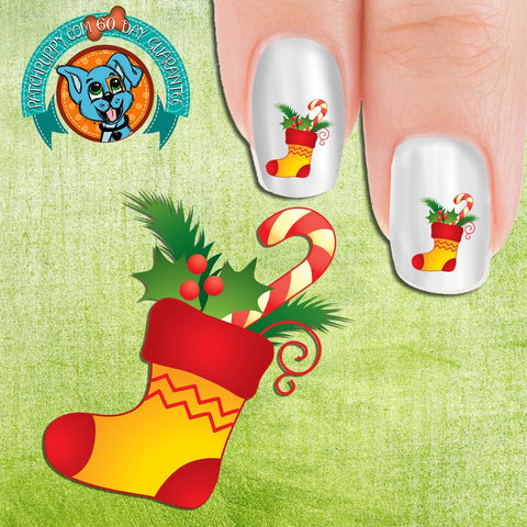 Christmas Stocking Nail Art (Now 50% more Free)