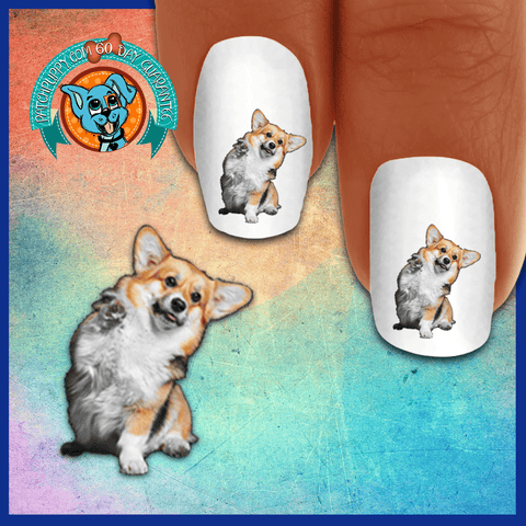 Corgi High Five! Nail Art Decals (Now 50% More FREE)