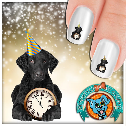 Curly Coated Retriever Party Time Nail Art Decals (Now 50% more!)