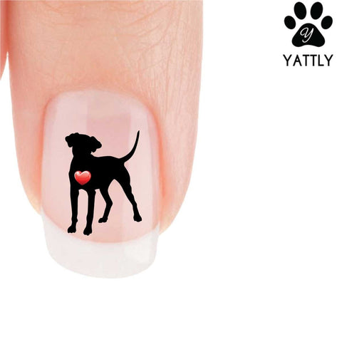 My Heart Dalmatian Nail Art Decals (NOW 50% MORE FREE)
