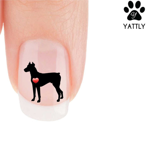 My Heart Doberman Nail Art Decals (Now 50% More FREE)