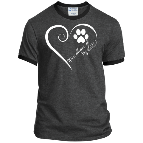 Wiredhaired Vizsla, Always in my Heart Ringer Tee
