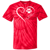 Irish Red and White Setter, Always in my Heart Tie Dye Tee