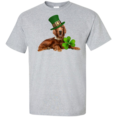 St Patricks Day English Setter Adult Unisex Tall Ultra Cotton T-Shirt