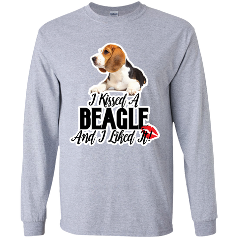 I kissed a Beagle and I liked it Unisex Long sleeve G240 Gildan LS Ultra Cotton T-Shirt