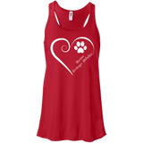 Russian Tsvetnaya Bolonka, Always in my Heart Flowy Racerback Tank