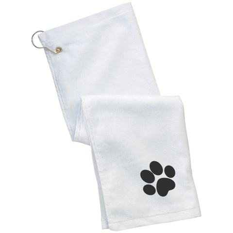 Paw Print Grommeted Golf Towel