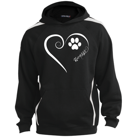 Kuvasz, Always in my Heart  Colorblock Sweatshirt