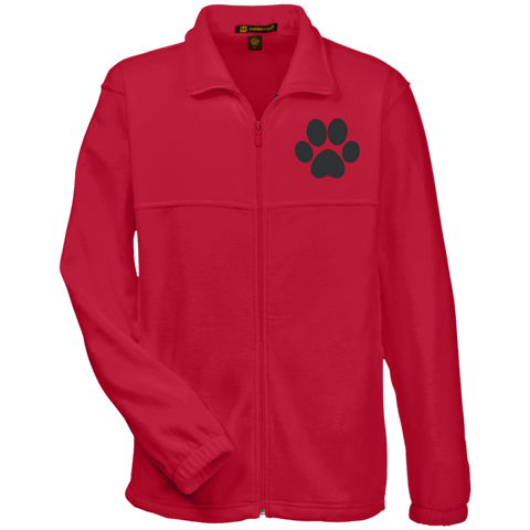 Paw Print Embroidered Fleece Full-Zip