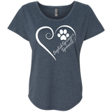 English Springer Spaniel, Always in my Heart Next Level Ladies Triblend Dolman Sleeve