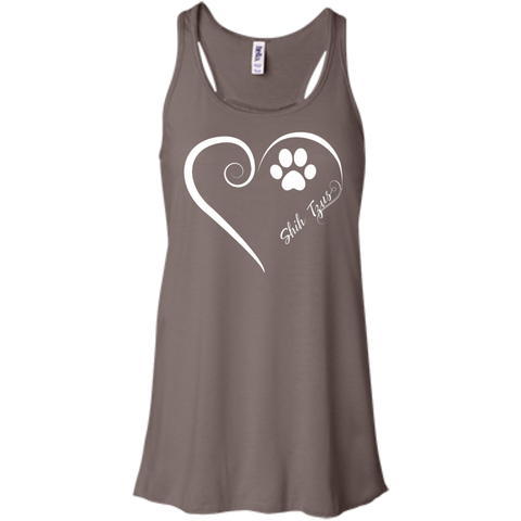 Shih-Tzus, Always in my Heart Flowy Racerback Tank