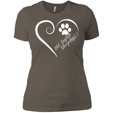 Old English Sheepdog, Always in my Heart  Ladies' Boyfriend Tee