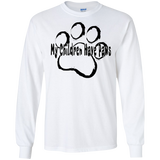 My Children Have Paws Unisex Gildan LS Ultra Cotton T-Shirt